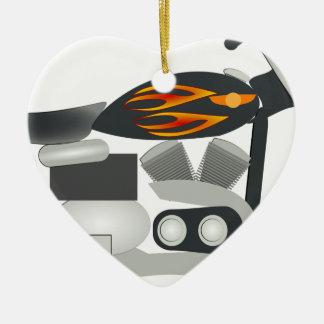 Ornamento De Cerâmica Desenho da motocicleta