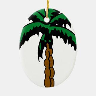 Ornamento De Cerâmica Desenho da palmeira