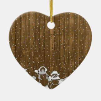 Ornamento De Cerâmica Desenho da vara do Natal