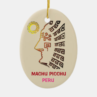 Ornamento De Cerâmica Desenho de surpresa de Machu Picchu