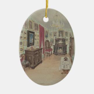 Ornamento De Cerâmica Desenho de um Interior Armário du Salão de beleza