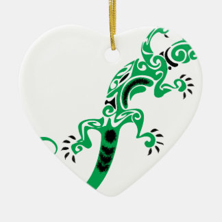 Ornamento De Cerâmica Desenho do lagarto verde