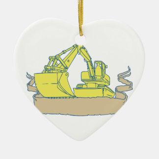 Ornamento De Cerâmica Desenho do rolo da fita da máquina escavadora do