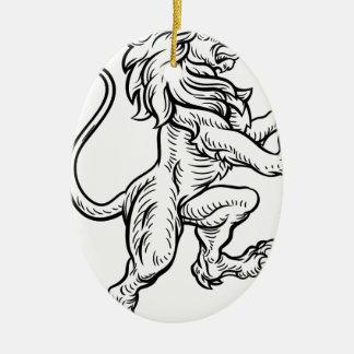 Ornamento De Cerâmica Desenho heráldico do estilo do leão