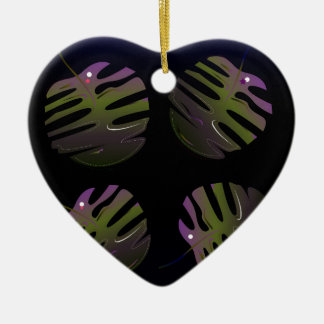 Ornamento De Cerâmica Desenho original 3D das palmas luxuosas