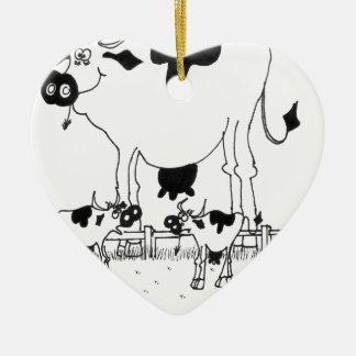 Ornamento De Cerâmica Desenhos animados 3372 da vaca