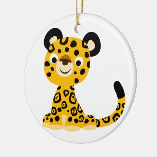 Ornamento De Cerâmica Desenhos animados amigáveis bonitos Jaguar