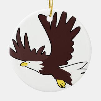 Ornamento De Cerâmica Desenhos animados da águia americana