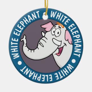 Ornamento De Cerâmica Desenhos animados da troca do elefante branco
