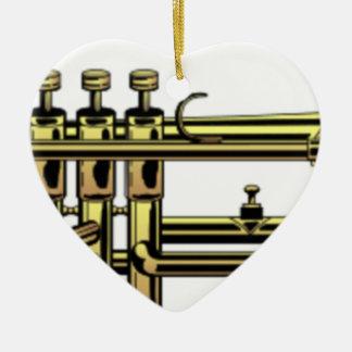 Ornamento De Cerâmica Desenhos animados da trombeta