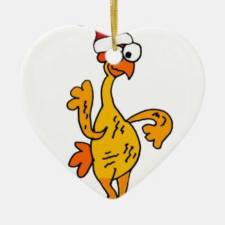 Ornamento De Cerâmica Desenhos animados de borracha engraçados do Natal