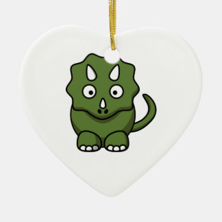 Ornamento De Cerâmica desenhos animados do dinossauro verde