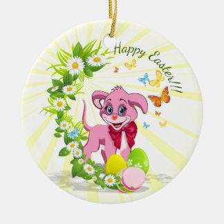 Ornamento De Cerâmica Desenhos animados do filhote de cachorro do nariz
