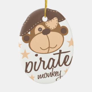 Ornamento De Cerâmica Desenhos animados do pirata legal