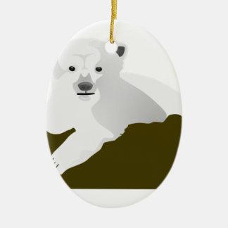Ornamento De Cerâmica Desenhos animados do urso polar