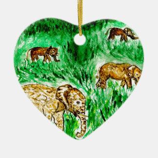 Ornamento De Cerâmica Desenhos animados Elephant3
