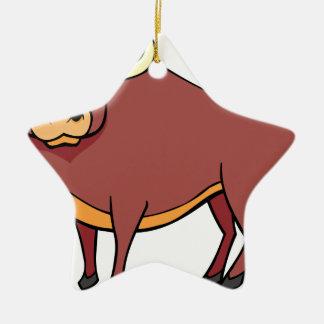 Ornamento De Cerâmica Desenhos animados irritados de Bull