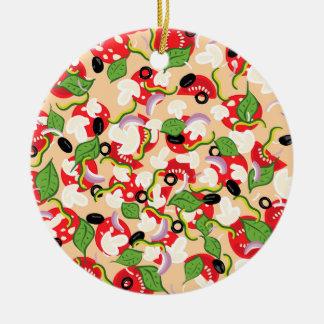 Ornamento De Cerâmica Desenhos animados Pizza2 saboroso