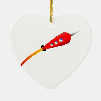Ornamento De Cerâmica Desenhos animados vermelhos Rocket