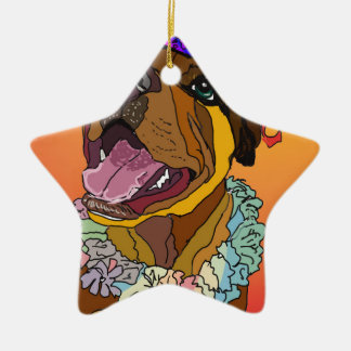 Ornamento De Cerâmica Desenhos do animal de estimação de Digitas