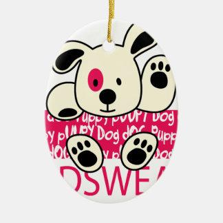 Ornamento De Cerâmica desgaste dos miúdos, cão do bebê