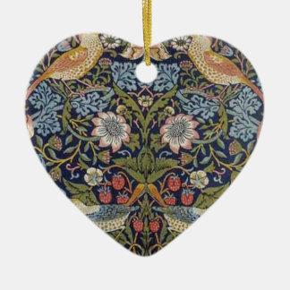 Ornamento De Cerâmica Design 1883 do ladrão da morango de William Morris