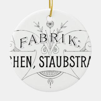 Ornamento De Cerâmica design alemão da tipografia do vintage