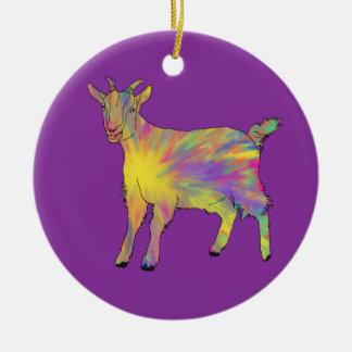 Ornamento De Cerâmica Design animal da arte da cabra artística engraçada