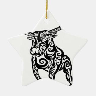 Ornamento De Cerâmica design animal da arte do touro