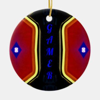 Ornamento De Cerâmica Design artístico azul vermelho amarelo moderno do
