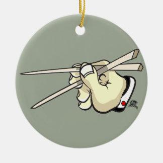 Ornamento De Cerâmica Design asiático das varas da costeleta