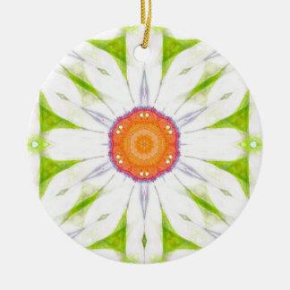 Ornamento De Cerâmica Design bonito da margarida
