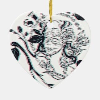 Ornamento De Cerâmica design bonito da menina à moda