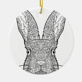 Ornamento De Cerâmica Design bonito do coelho de coelho