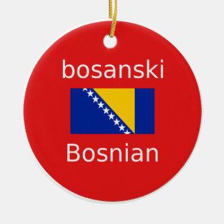 Ornamento De Cerâmica Design bosniano da língua
