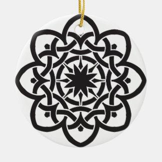Ornamento De Cerâmica Design celta frente e verso