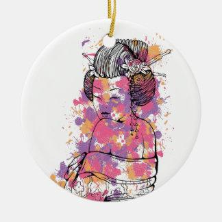 Ornamento De Cerâmica design chinês do vintage da menina