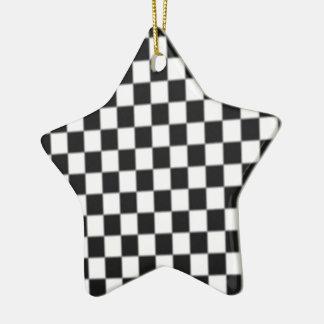 Ornamento De Cerâmica Design da bandeira da raça do conselho de