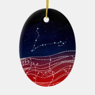 Ornamento De Cerâmica Design da constelação dos peixes