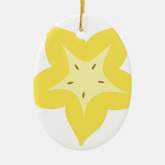 Ornamento De Cerâmica design da fruta de estrela bonito
