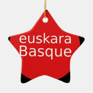 Ornamento De Cerâmica Design da língua Basque