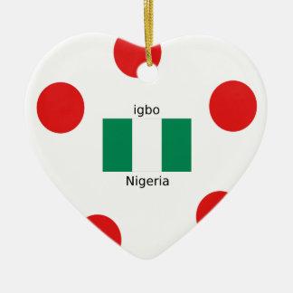 Ornamento De Cerâmica Design da língua da bandeira e do Igbo de Nigéria
