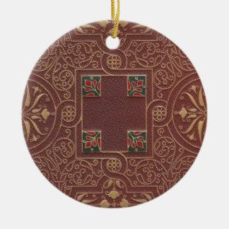Ornamento De Cerâmica Design de couro, estilo antigo