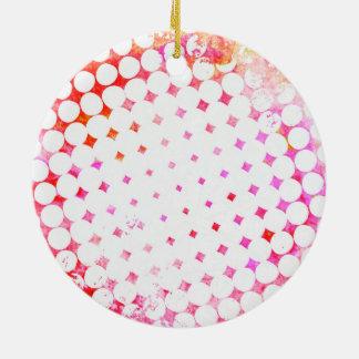 Ornamento De Cerâmica Design de explosão cor-de-rosa da banda desenhada