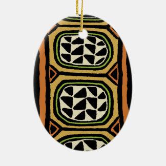 Ornamento De Cerâmica Design de matéria têxtil de Kuba do africano