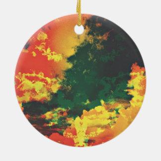 Ornamento De Cerâmica Design digital da arte do abstrato vermelho