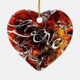 Ornamento De Cerâmica Design do amor por Nathan Robert Simonson