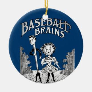 Ornamento De Cerâmica Design do basebol do vintage