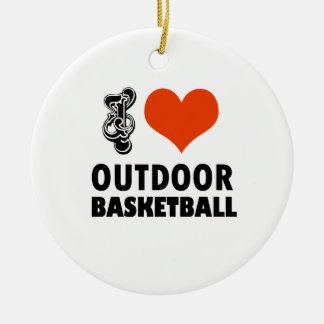 Ornamento De Cerâmica design do basquetebol