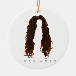 Ornamento De Cerâmica Design do cabelo de Josh